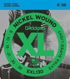 D`Addario EXL130 XL NICKEL WOUND Струны для электрогитары Extra Super Light 8-38