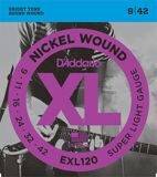 D`Addario EXL120 XL NICKEL WOUND Струны для электрогитары Super Light 9-42