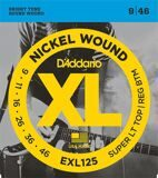 D`Addario EXL 125 XL NICKEL WOUND Струны для электрогитары Super Light Top/Regular Bottom 9-46