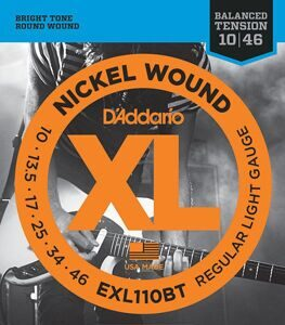 D'Addario EXL110BT Nickel Wound Комплект струн для электрогитары, Regular Light, 10-46